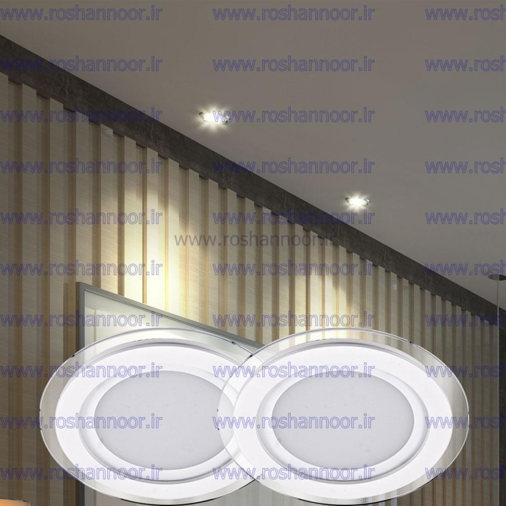 نور ساطع شده از لامپ هالوژن ال ای دی سقفی توکار مدل 034 در مقایسه با مدل های قدیمی لامپ های رشته ای و فلورسنتی کاملاً یکنواخت بوده و سایه ایجاد نمی کند.